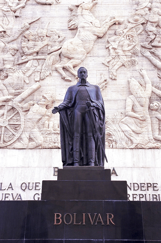 Statue of Simon Bolivar, Independence Monument, Los Proceres, Caracas, Venezuela, South America