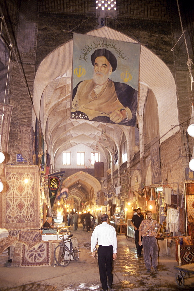 The covered bazaar, Isfahan, Iran, Middle East