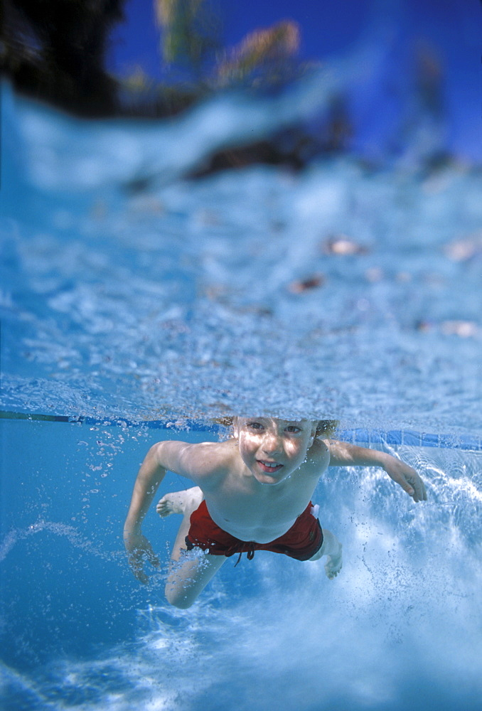 Little boy swimming underwater - 745-50
