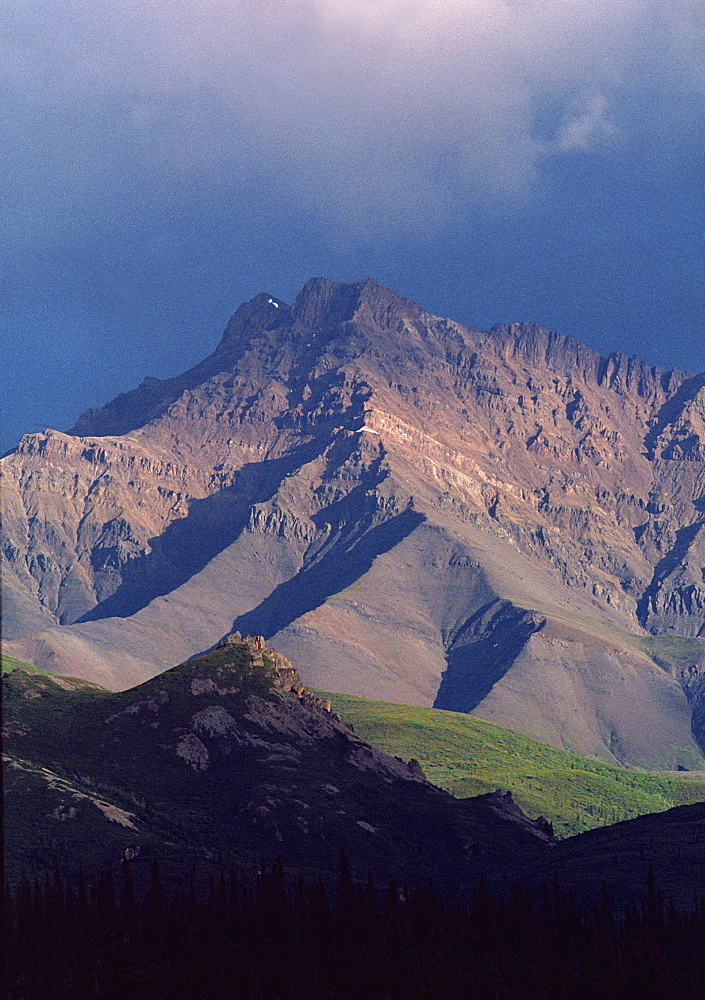 Denali Mountain at sunset, Alaska, United States of America, North America - 745-90