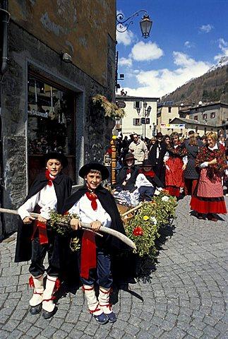 Easter, Bormio, Lombardy, Italy