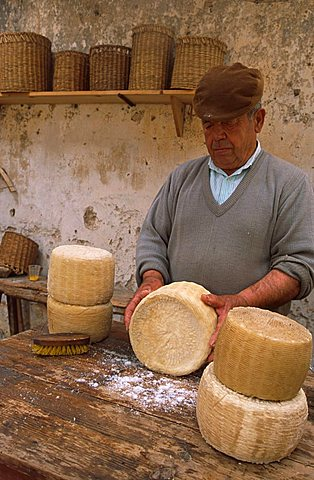 Pecorino manufacture, Handicraft Museum, Custonaci, Sicily, Italy