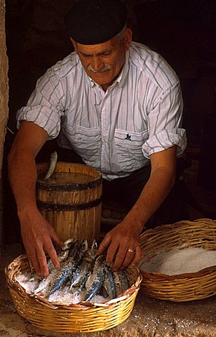 Cooking fish, Handicraft Museum, Custonaci, Sicily, Italy