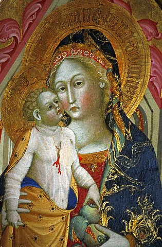 Madonna and child, Francesco di Gentile, XIV century, Piersanti museum, Matelica, Marche, Italy