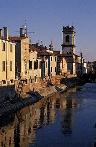 Canal of Bisatto for Porta Vecchi, Este, Veneto, Italy.