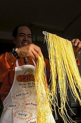 Preparation of the pasta, Campofilone, Marche, Italy