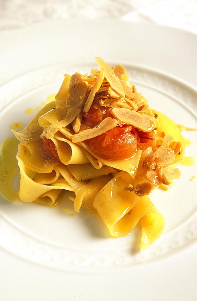 Pappardelle with botargo, Baldin restaurant, Genoa, Ligury, Italy