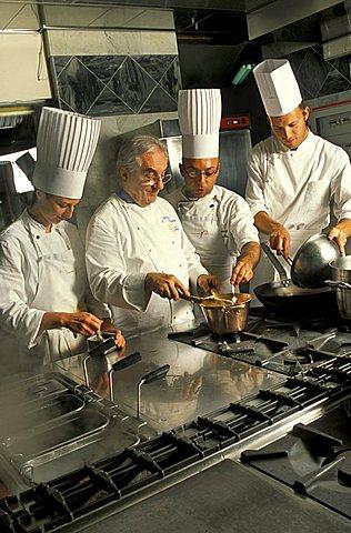 Gualtiero Marchesi chef, L'Albereta restaurant, Erbusco, Lombardy, Italy