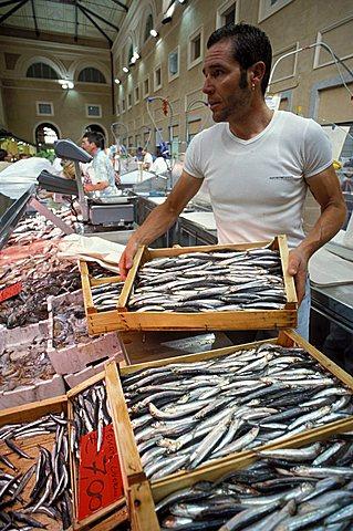 Fish market, Livorno, Tuscany, Italy