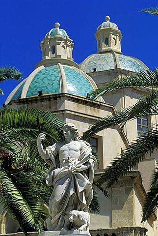 Domes, Cathedral and San Vito churches, Mazara del Vallo, Sicily, Italy
