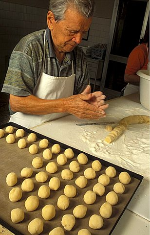 Preparation of macaroon, Giuseppe Vicenzi, Virginio Moriondo - Mombaruzzo, Piedmont, Italy.