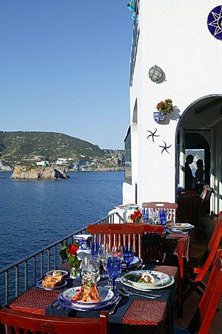 Orestorante restaurant, Ponza island, Lazio, Italy