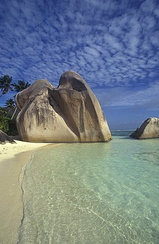Anse Union beach, La Digue island, Seychelles, Indian Ocean, Africa