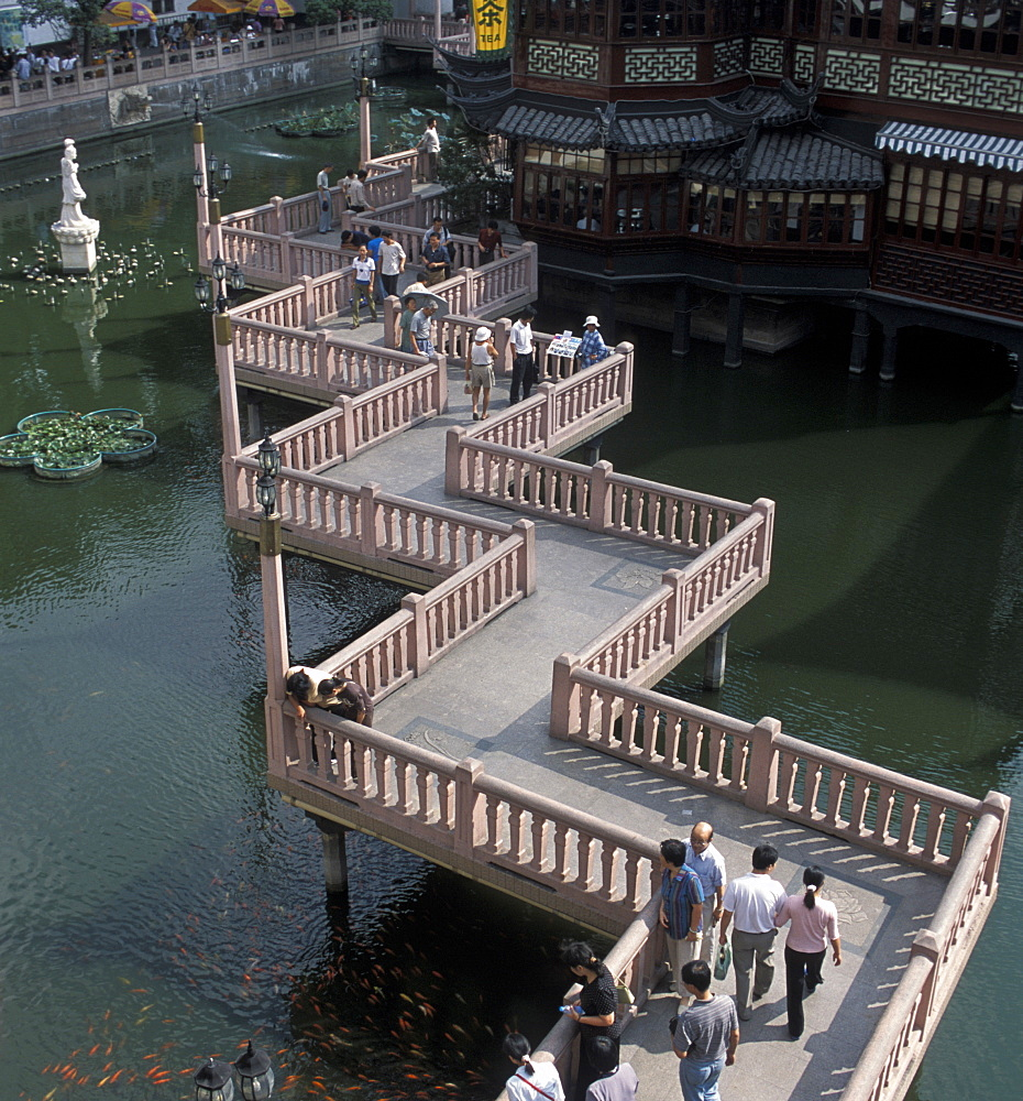 Ponte delle Nove Svolte, Yu Garden, Shanghai, China, Asia - 746-32336