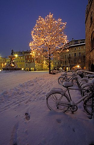 Christmas time, Piazza del Duomo, Trento, Trentino Alto Adige, Italy