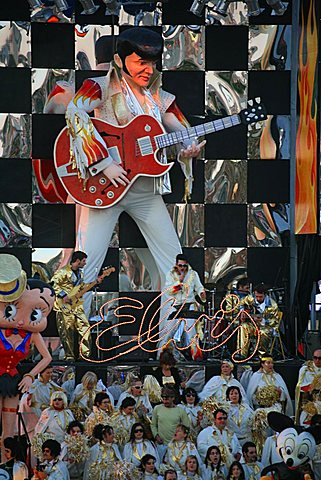 Elvis mask, Carnival 2007, Viareggio, Tuscany, Italy