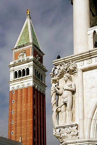 San Marco bell tower, Venice, Veneto, Italy