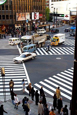 Ginza shopping area, Tokyo, Japan, Asia