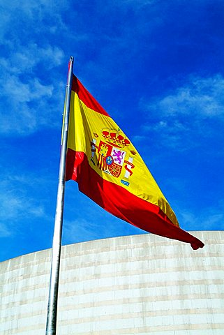 Spanish flag, Madrid, Spain, Europe