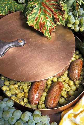 Sausage and grapes, Italy