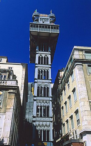 Elevador de Santa Justa, Lisbona, Portugal, Europe