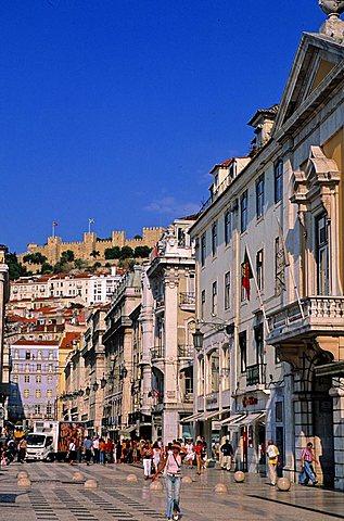Foreshortening, Lisbona, Portugal, Europe
