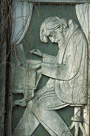 Monument to Verdi, Roncole, Parma, Emilia Romagna, Italy