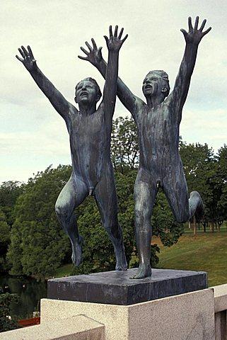 Vigelland sculpture, Frognerparken, Oslo, Norway, Europe
