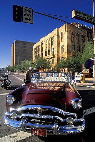 Copper square, Phoenix, Arizona, United States of America, North America