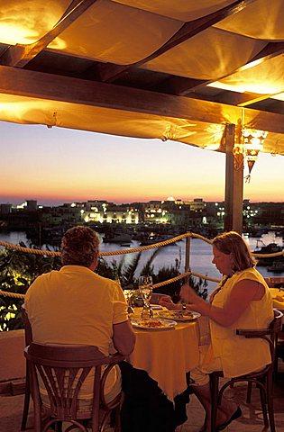 Il Saraceno restaurant, Lampedusa island, Sicily, Italy