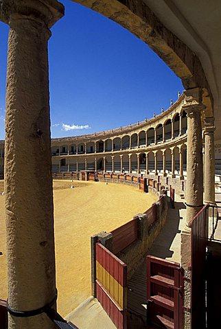 Ronda bullring, Malaga, Autonomous Community of Andalusia, Spain