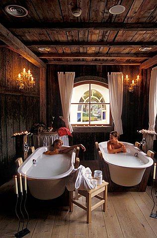 Milk-bath, Hotel Mirabell, Valdaora, Val Pusteria, Trentino Alto Adige, Italy