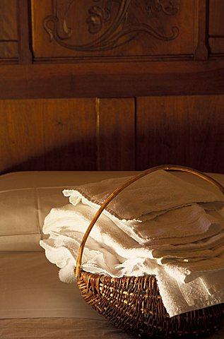 Bedroom, Locanda Vecchia Miniera hotel, Ollomont, Valle d'Aosta, Italy