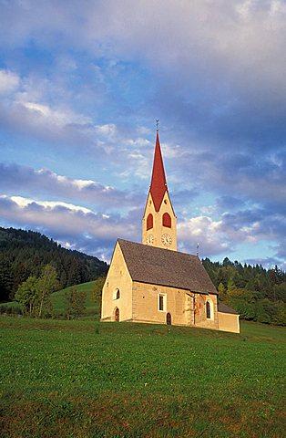 San Giacomo Nessano church, Val Pusteria, Trentino Alto Adige, Italy