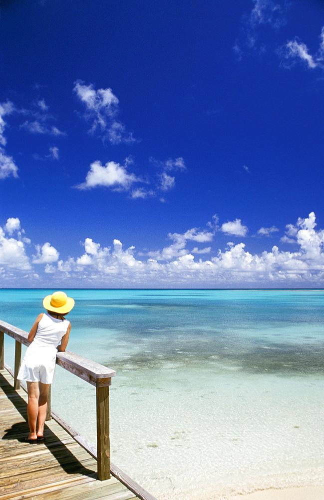 Sea, Jumby Bay hotel, Long Island, Antigua, Caribbean, Central America