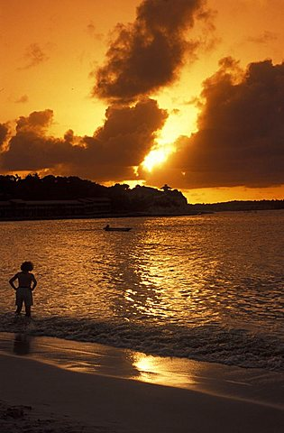 Sunset, Long Bay, Antigua, Caribbean, Central America