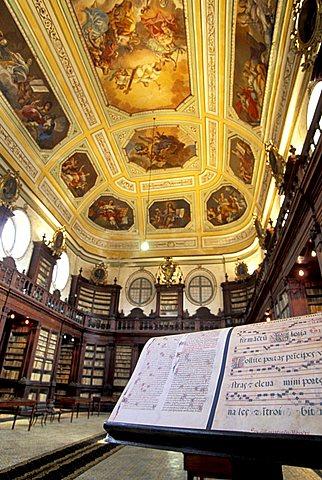 Ursino Recupero library, Benedictine monastery, Catania, Sicily, Italy