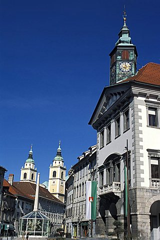 Town hall, Ljubljana, Slovenia, Europe