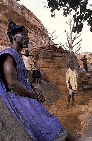 Dogon village, Republic of Mali, West Africa, Africa
