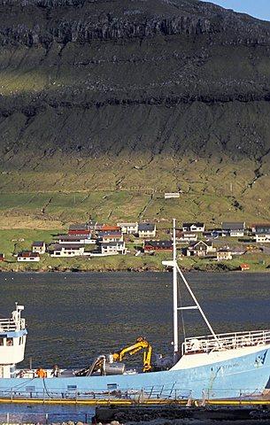 Kolla fiord, Faroer Islands, Denmark, Atlantic Ocean