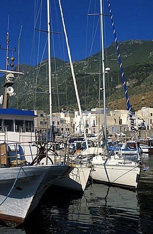 Scalo Nuovo port, Marettimo island, Egadi islands, Sicily, Italy