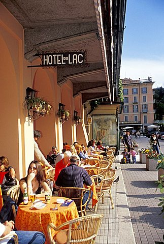 Hotel Du Lac cafe, Bellagio, Como lake, Lombardy, Italy