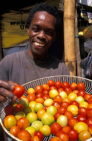 Fruits and vegatables seller, Jamaica, Caribbean, West Indies, Central America
