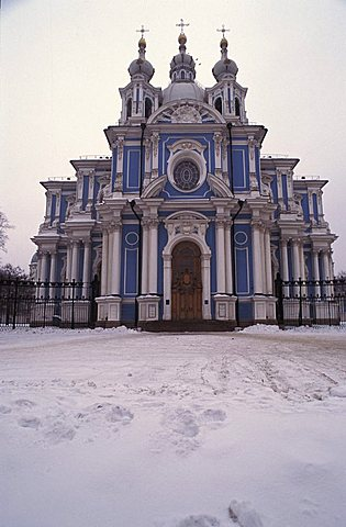 Smonly monastery, Saint Petersburg, Russia, Europe