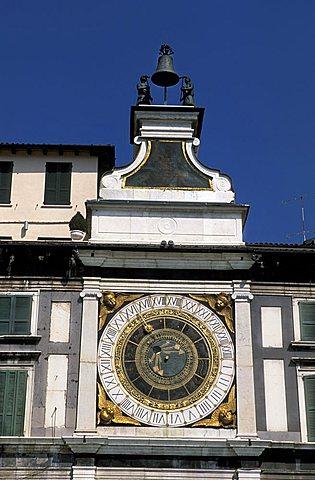 Orologio palace, Loggia square, Brescia, Lombardy, Italy.