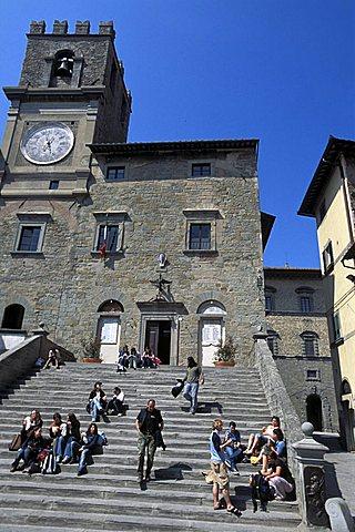 Town hall, Cortona, Tuscany, Italy