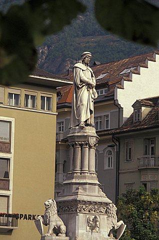 Walther von der Vogelweide monument, Bolzano, Trentino Alto Adige, Italy