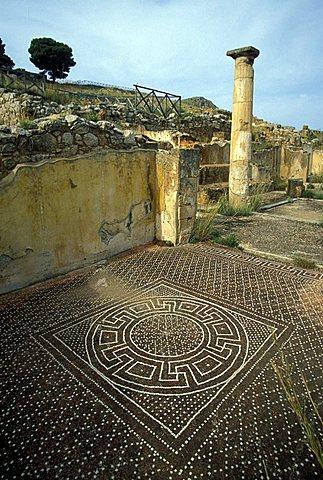 Mosaic, Solunto, Sicily, Italy