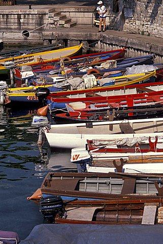 Harbour, Garda lake, Veneto, Italy