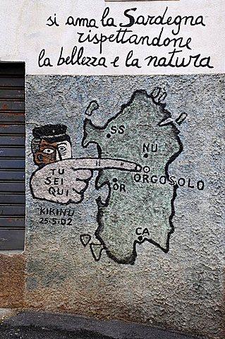 Murals, Orgosolo, Sardinia, Italy, Europe